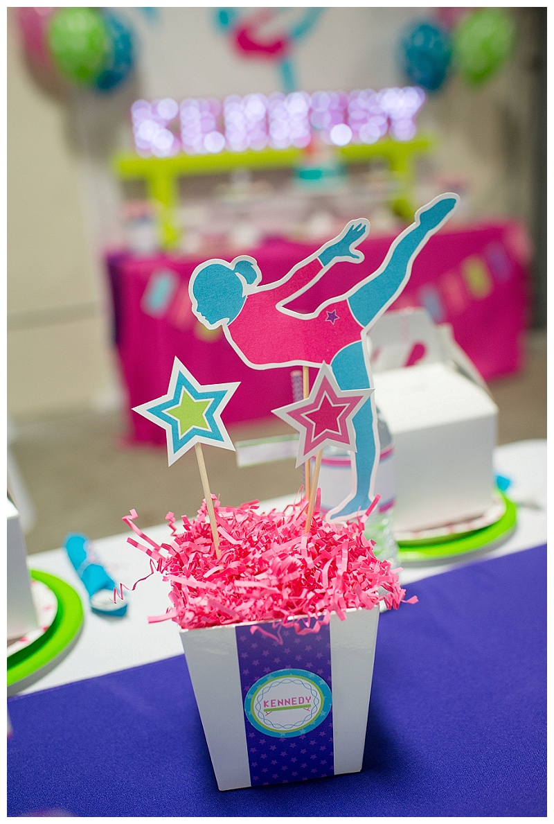 A Bright And Colorful Gymnastics Birthday Party Hoopla