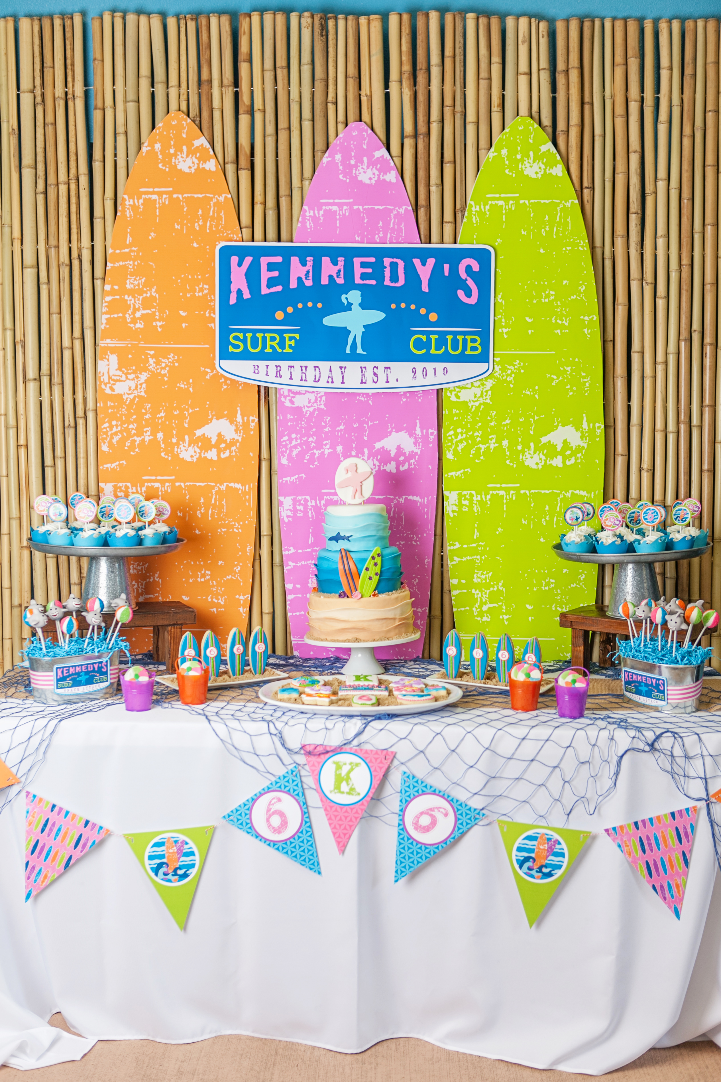 A Girly Surfing Birthday Party Hoopla Events Krista O