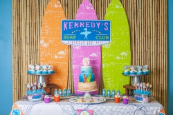 A Girly Surfing Birthday Party