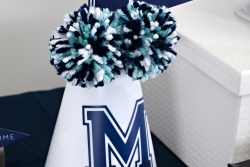 basketball party megaphone poms