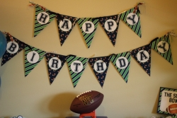 Wesley\'s First Football Birthday