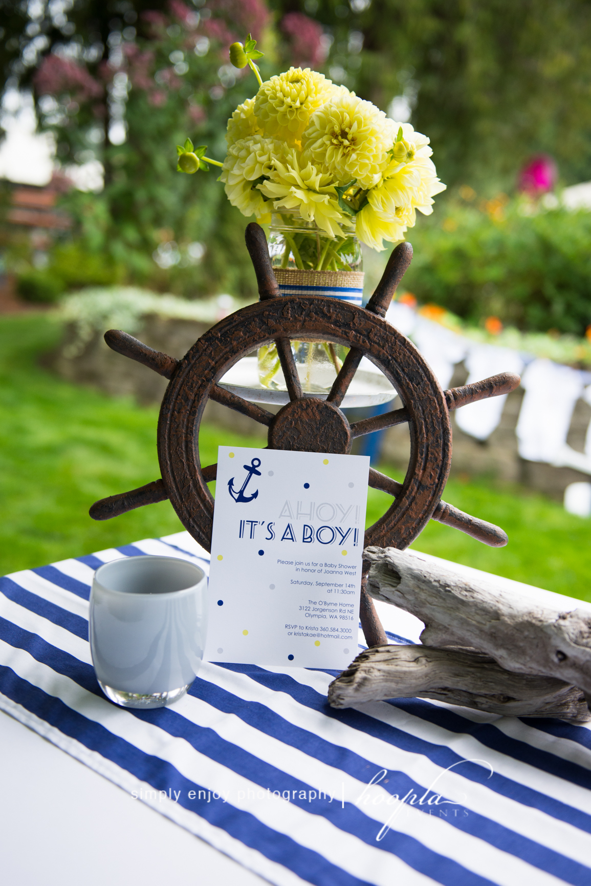 Nautical theme baby shower hoopla events krista o 39 byrne for Baby shower nautical decoration