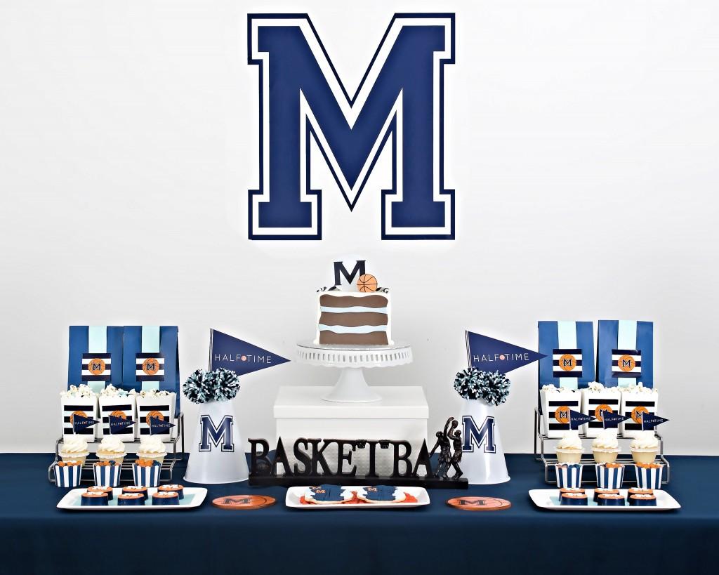 Basketball dessert table
