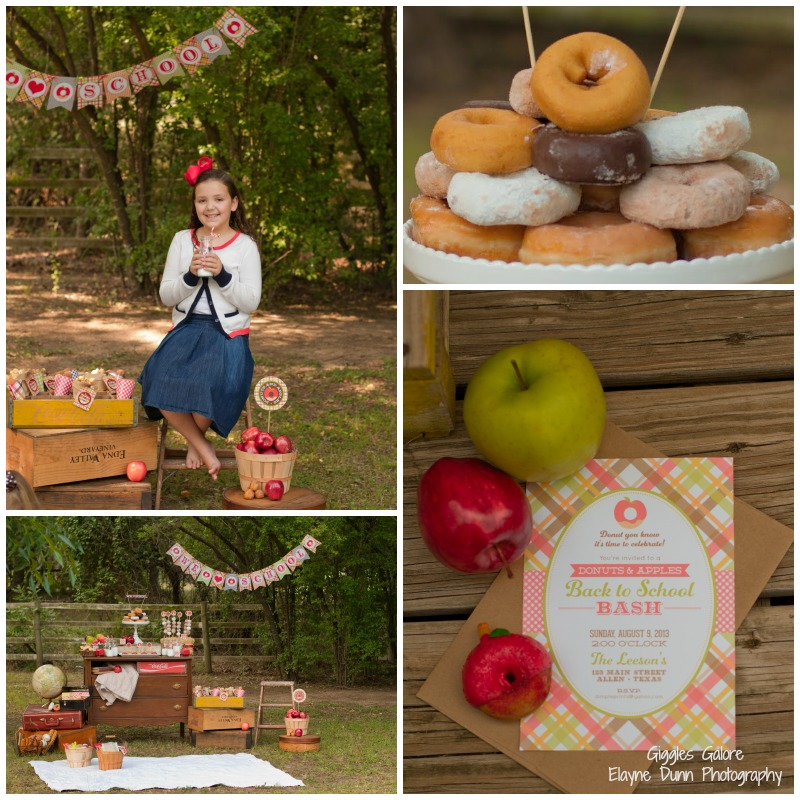 Back to School Apples and Donuts Party