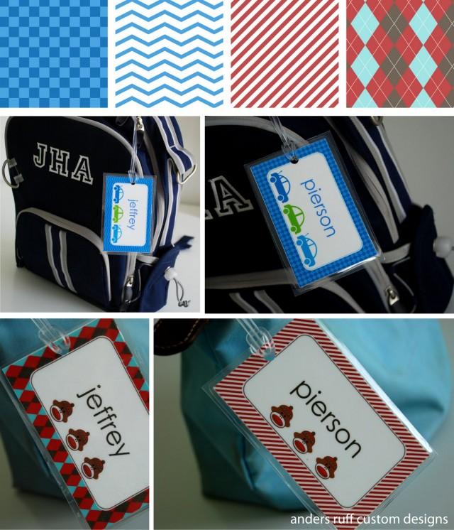 Free School Bag Tags Boy