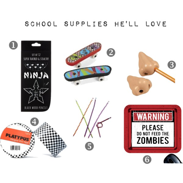 School Supplies for Boys