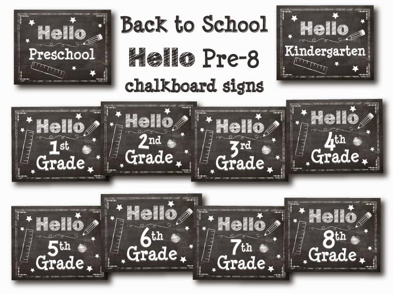 free chalkboard signs
