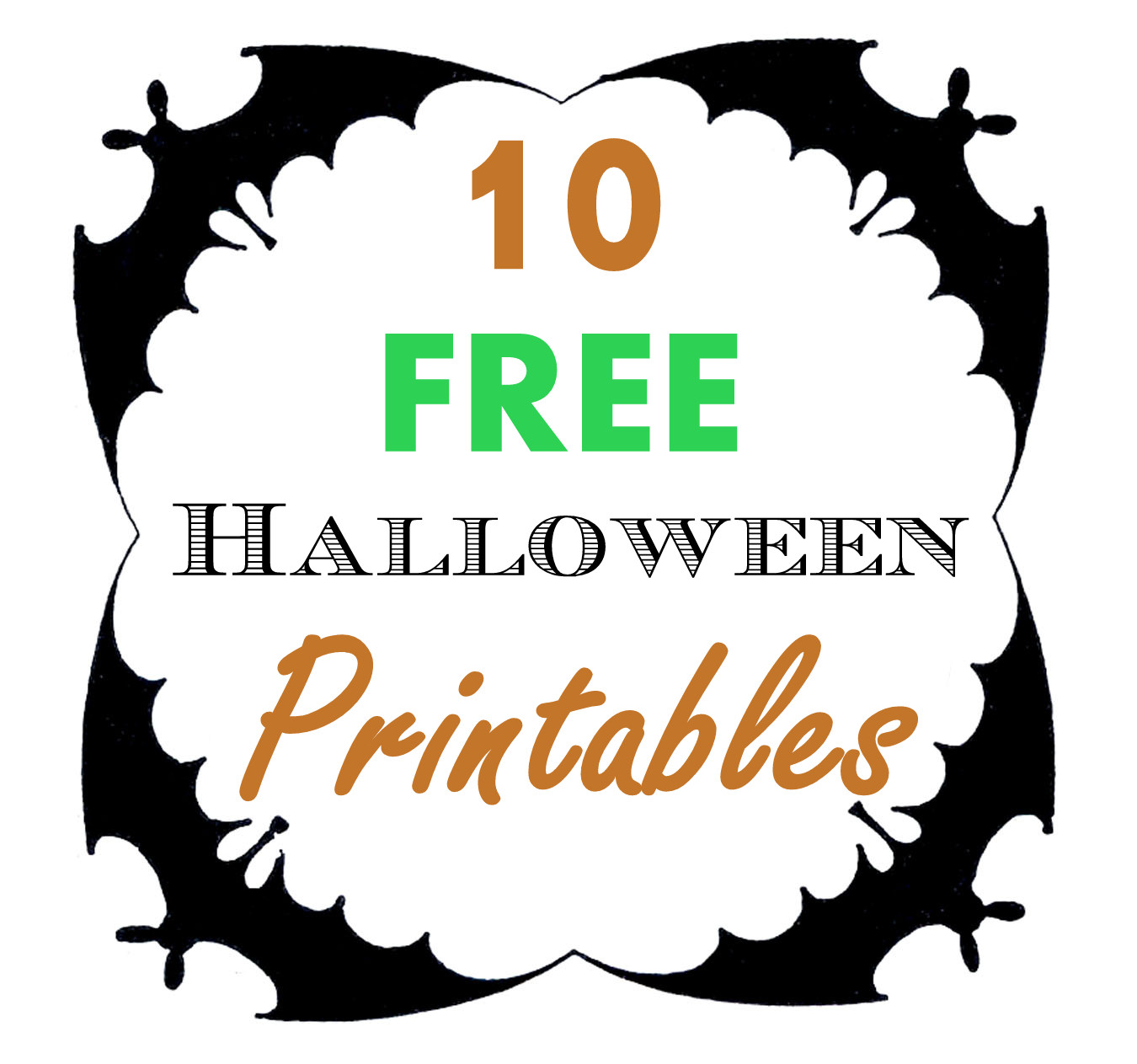 This is a graphic of Transformative Free Halloween Printable