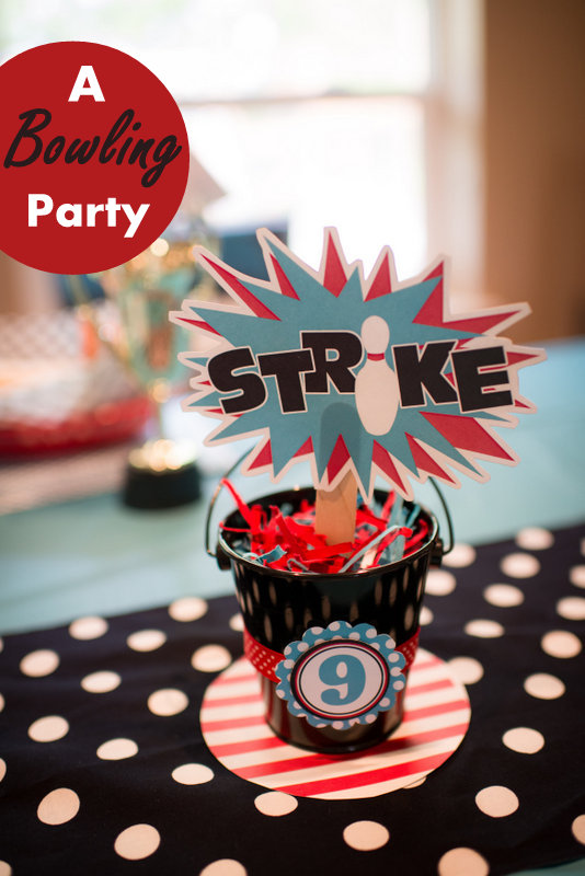 Strike A Bowling Themed Birthday Party Hoopla Events Krista O'Byrne Adorable Bowling Birthday Party Decorations