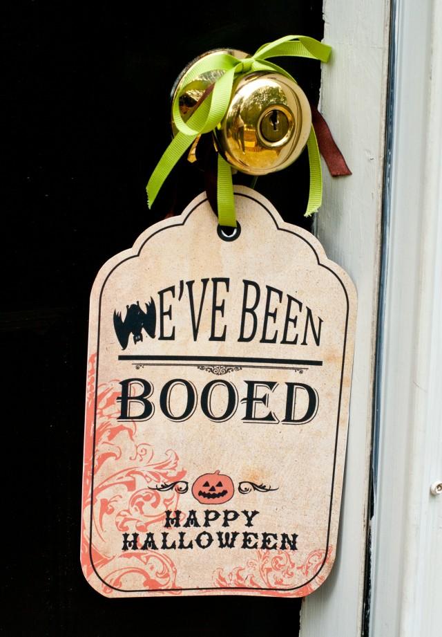 we've beem booed Halloween tag