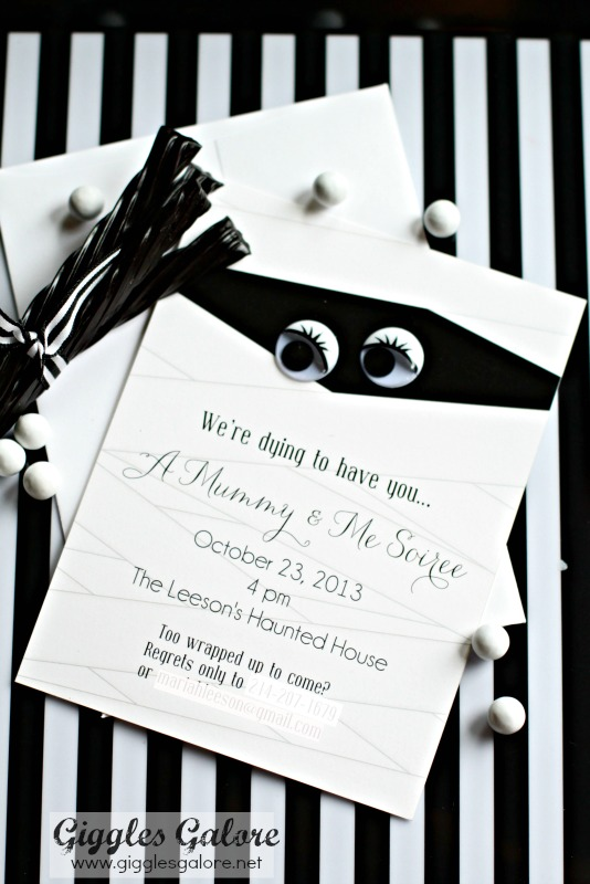 mummy invitation