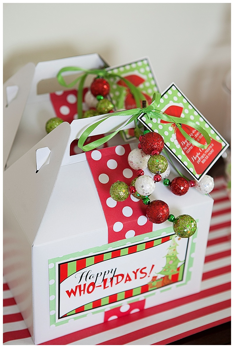 A grinch inspired christmas party hoopla events krista for Corporate christmas party gift ideas