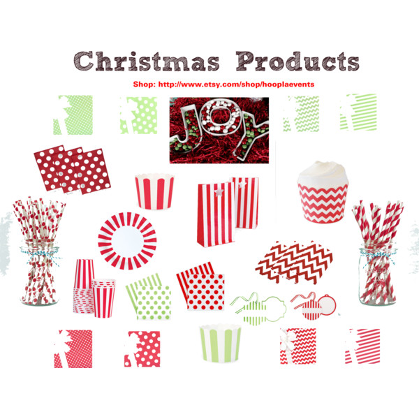 Attractive Christmas Party Paper Plates Part - 4: Hoopla_Events_Logo Hoopla Events Christmas Products Collage