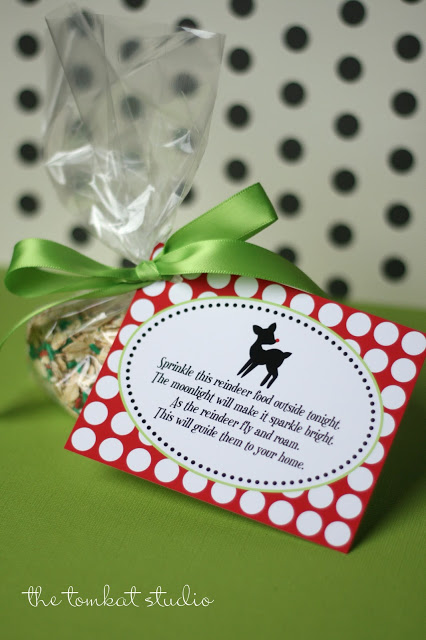 reindeer food label - tomkat studio