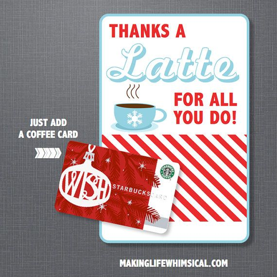 image about Thanks a Latte Christmas Printable called Xmas Presents for Lecturers Neighbors + The TomKat