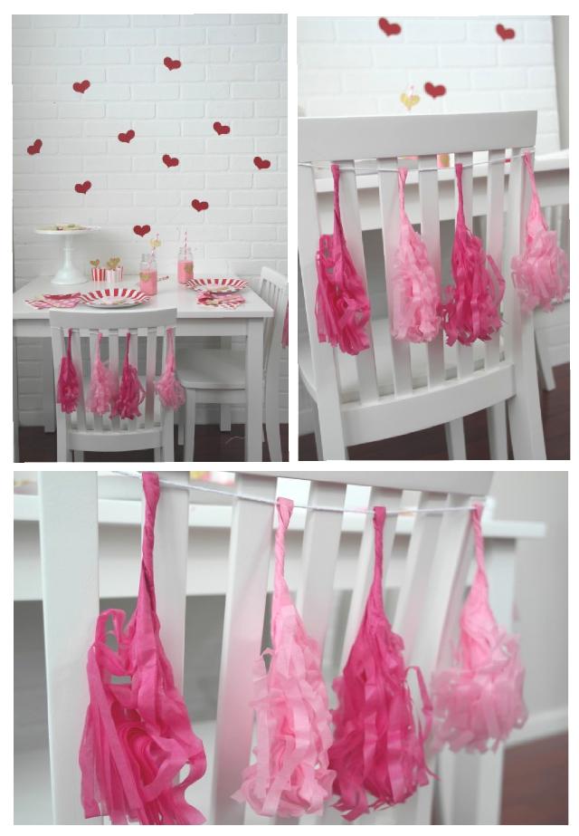 valentines day tassels