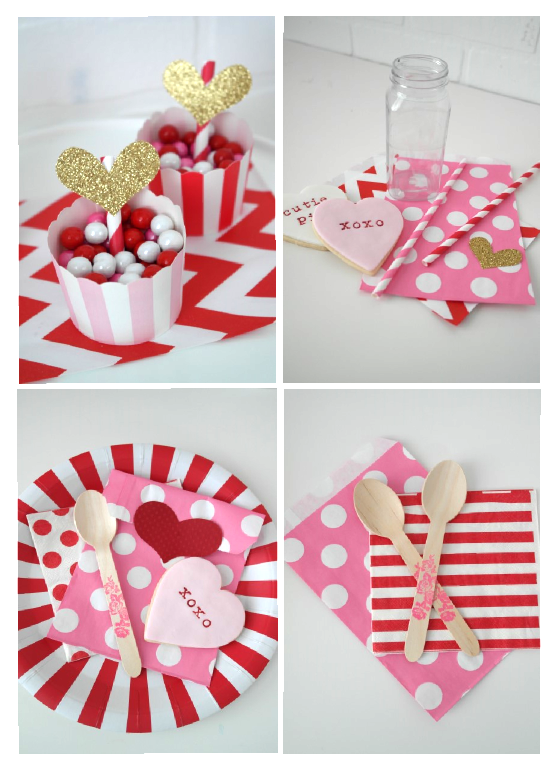 valentines table supplies
