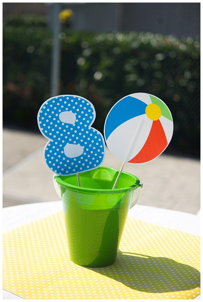 pool party centerpieces