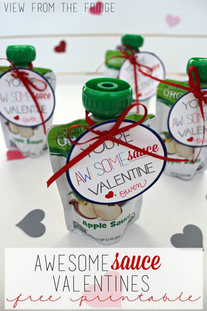 AwesomeSauce Valentine free printable