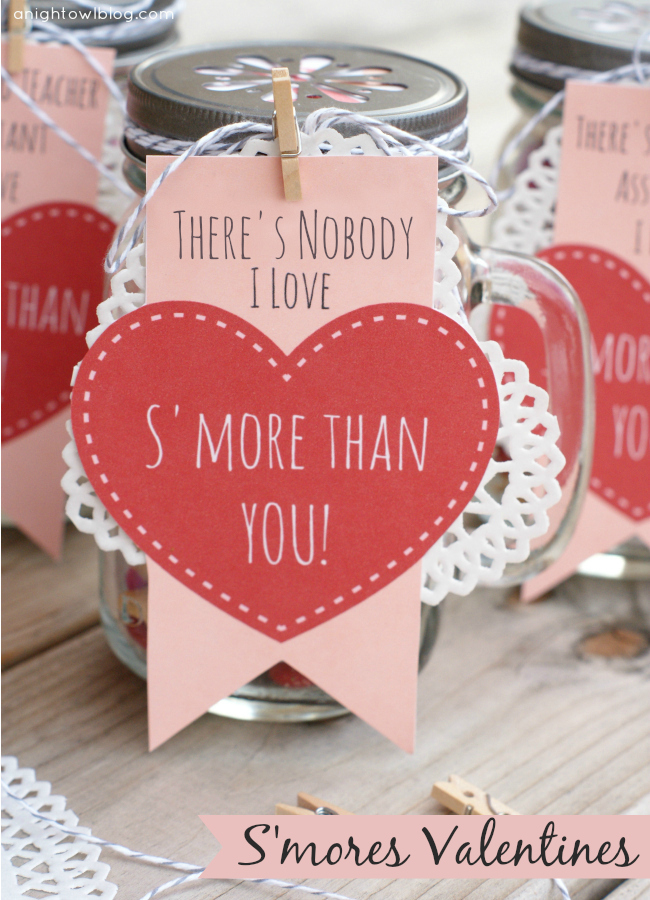 S'mores Valentines free printable