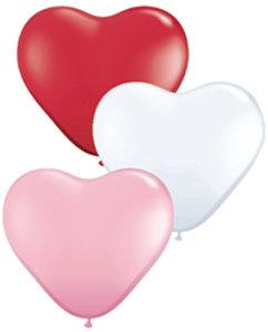 """6 """" heart balloons"""