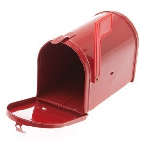 red tinplate mailbox Valentines