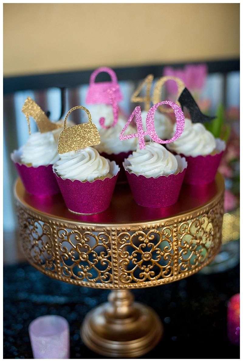 A Glamorous Th Birthday Party Hoopla Events Krista OByrne - 40th birthday party favors ideas