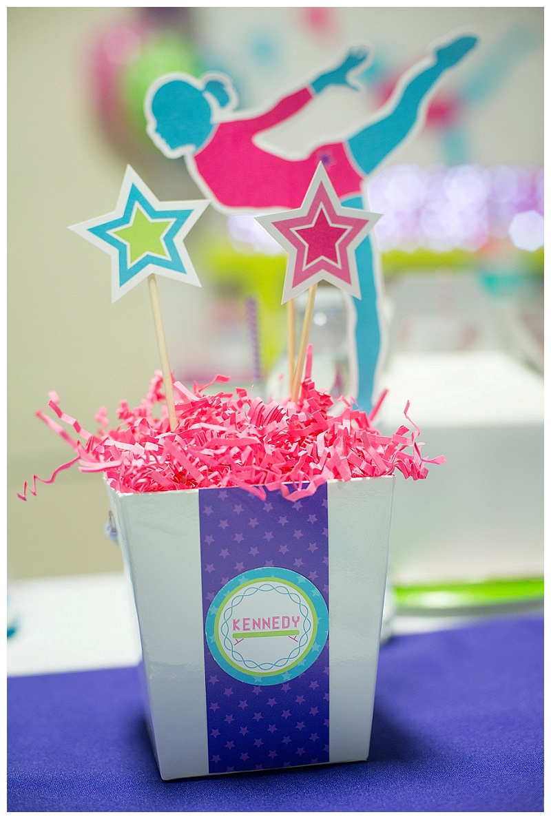 Gymnastics Birthday Party Decorations A Bright Colorful Gymnastics Birthday Party Hoopla Events