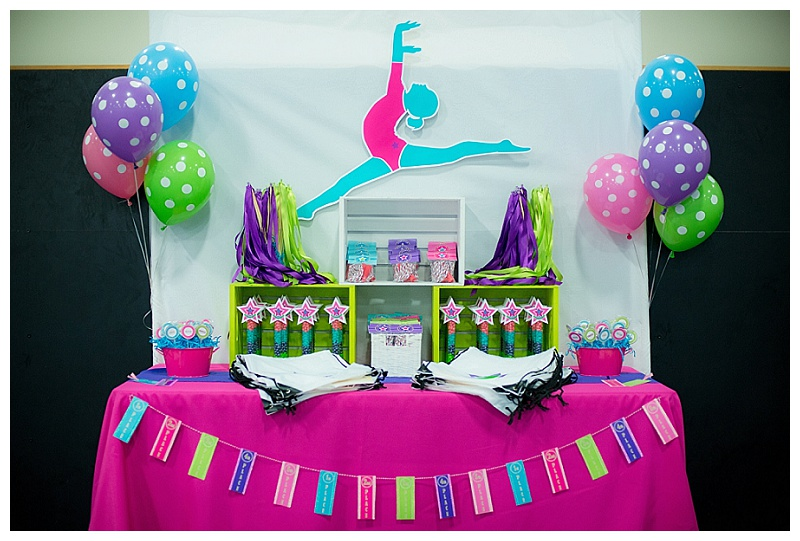 A Bright Colorful Gymnastics Birthday Party Hoopla Events