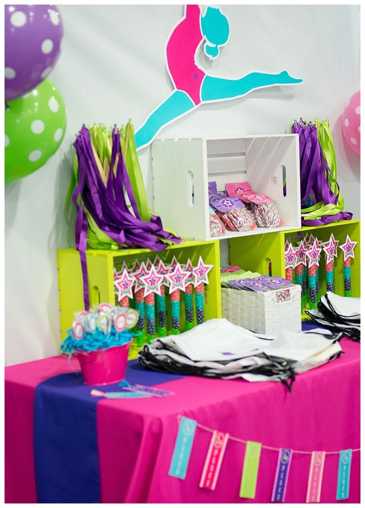 A Bright Amp Colorful Gymnastics Birthday Party Hoopla