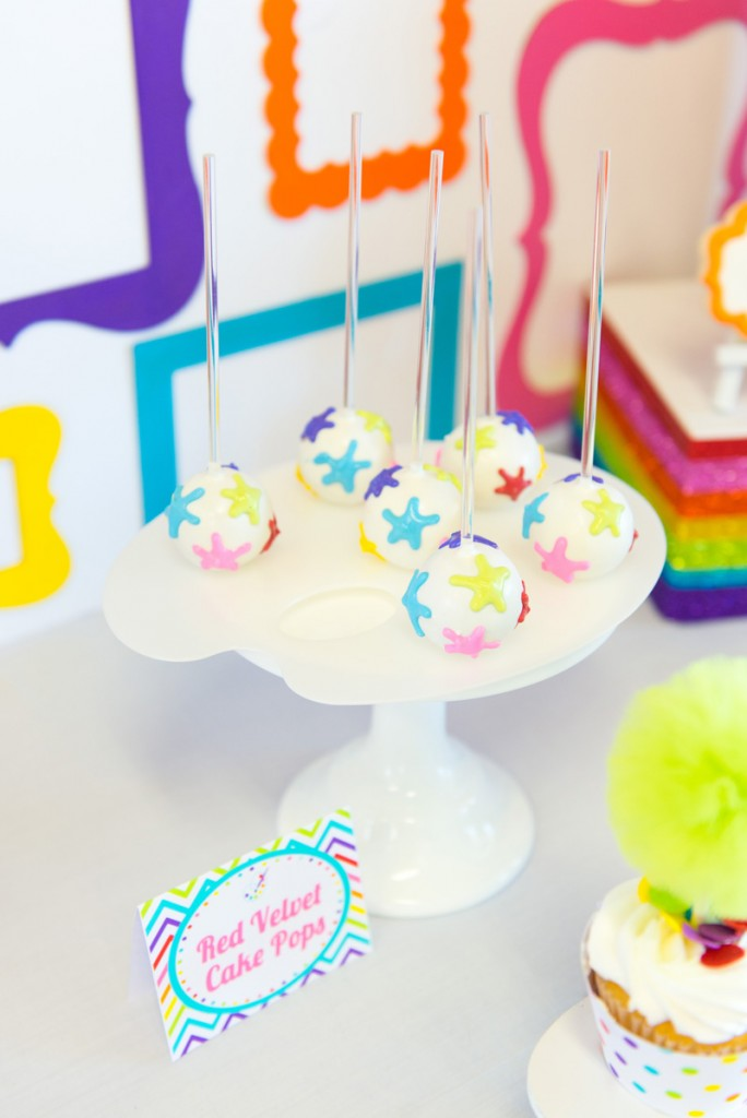 art party cake pops