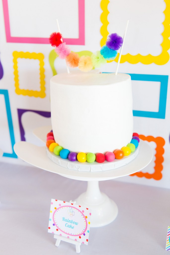 A Girly Rainbow Art and Crafts Birthday Party Hoopla Events