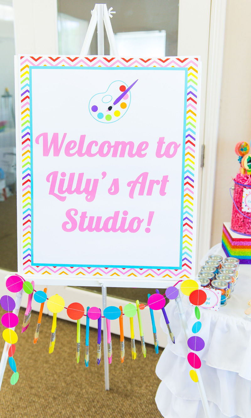 A Girly Rainbow Art And Crafts Birthday Party Hoopla