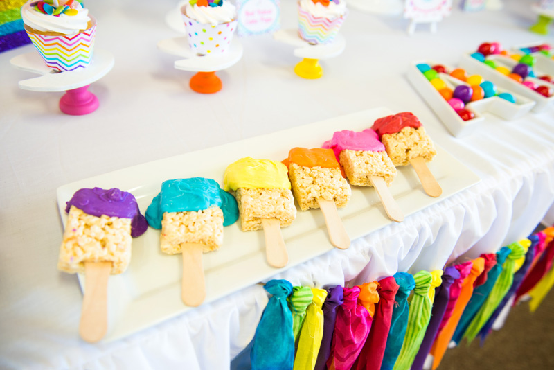 A Girly Rainbow Art and Crafts Birthday Party   Hoopla ...