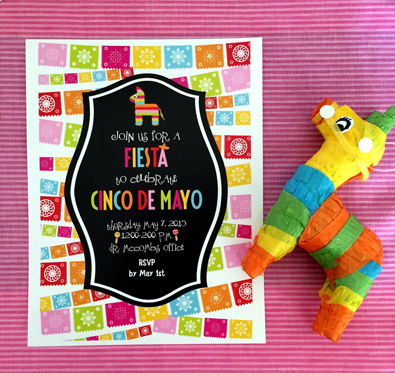 Pinata Fringe Cinco de Mayo Invites