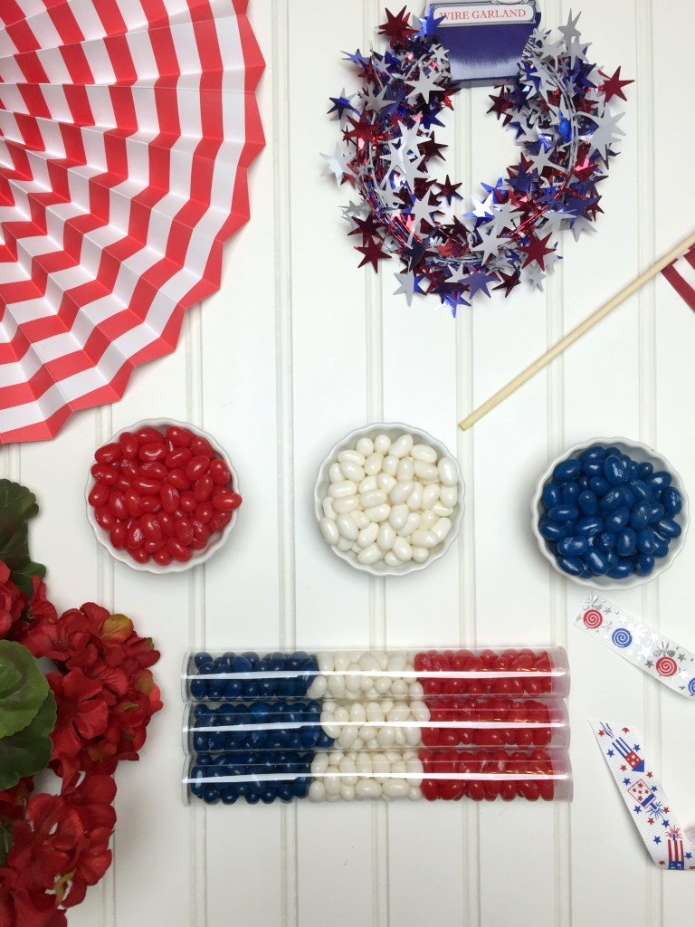 4th of July candy tube favors
