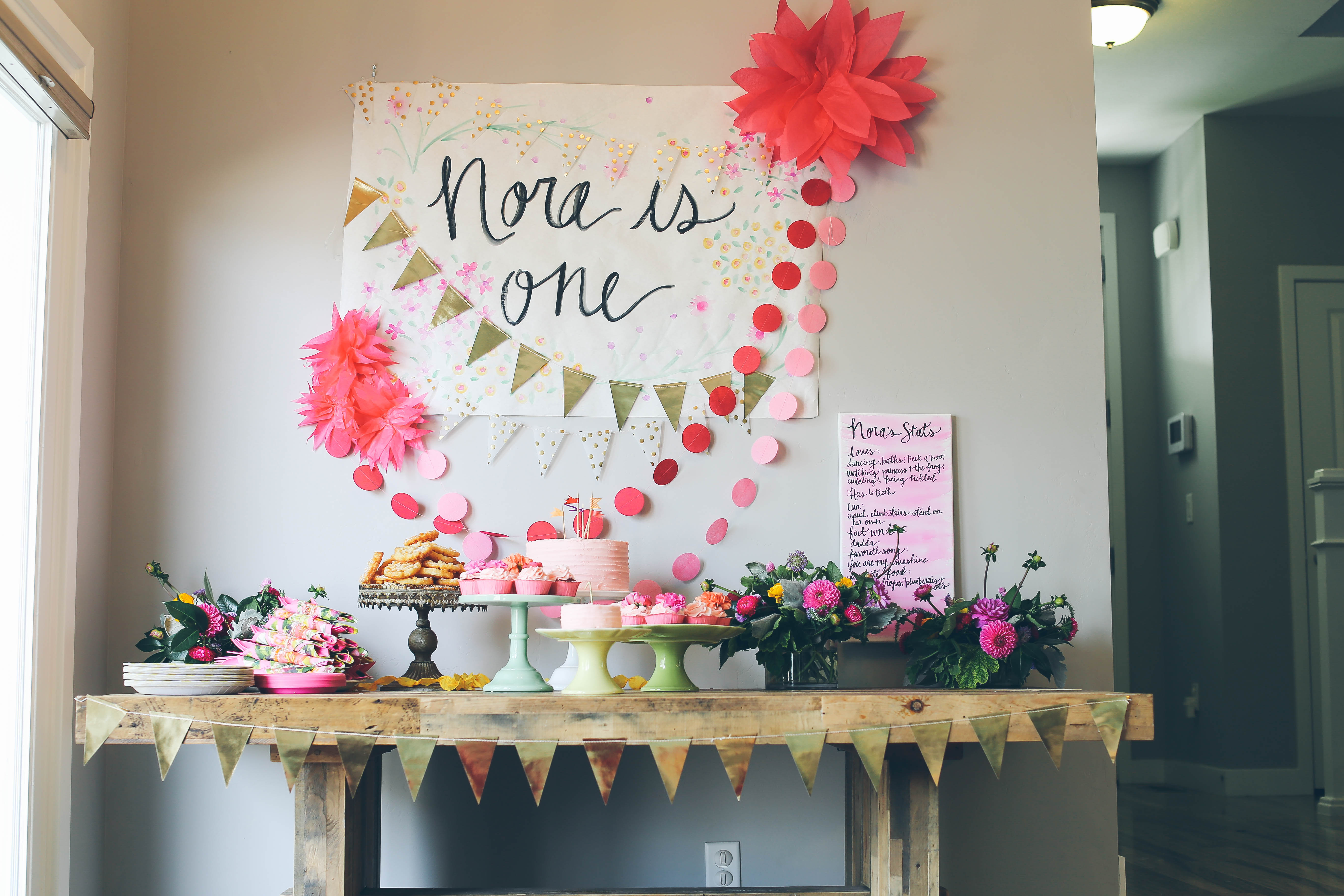A Bright Garden Inspired 1st Birthday Party | Hoopla Events | Krista