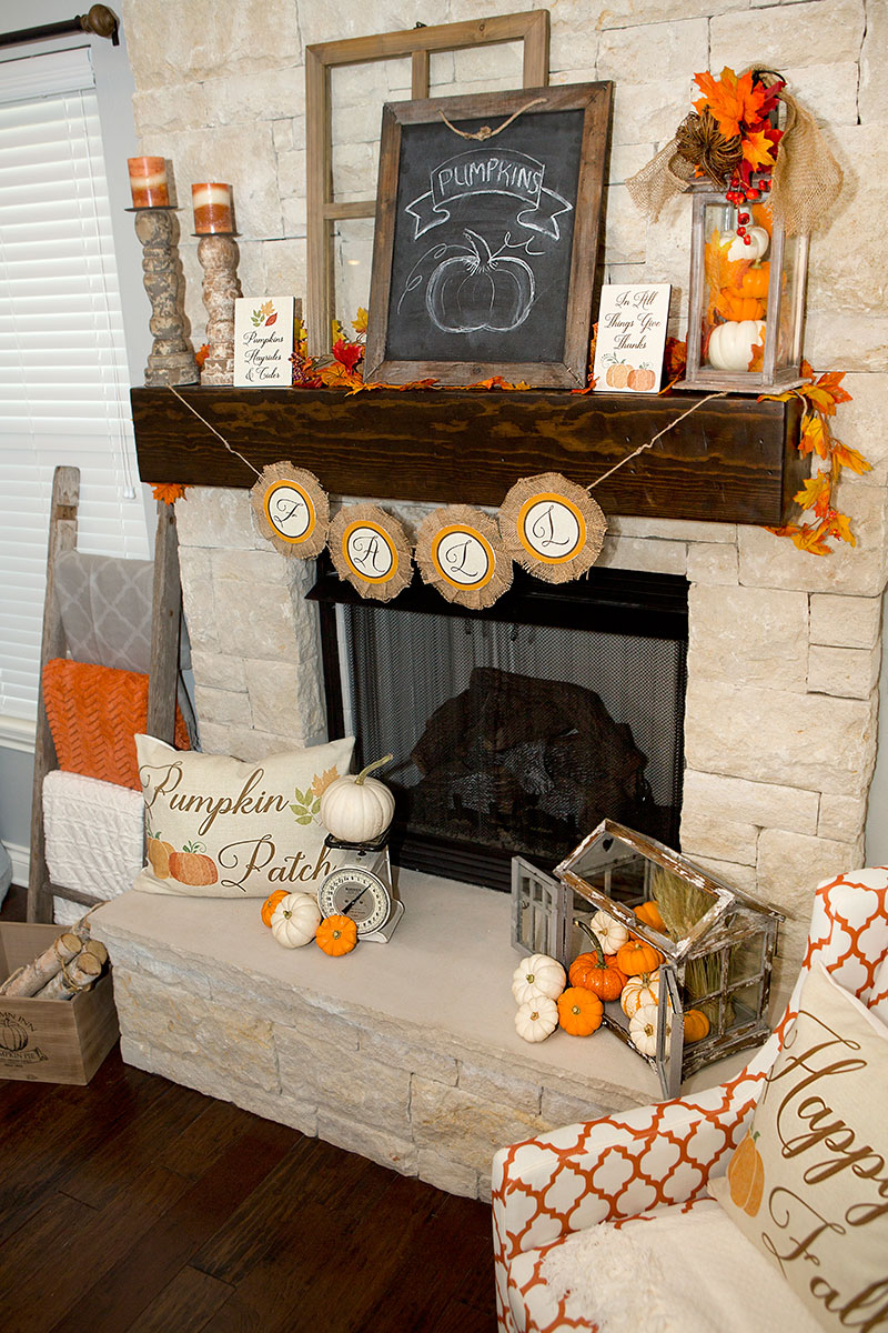 Fall Mantel Decorations 3 Ways Hoopla Events Krista O