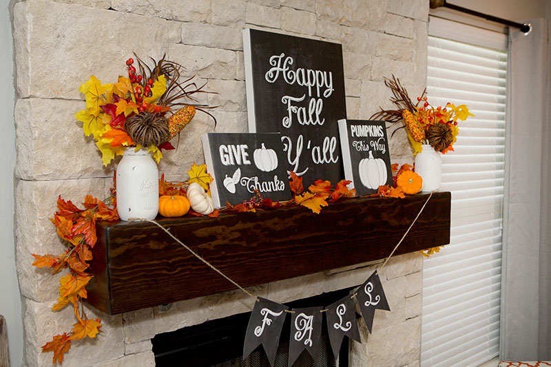 colorful-fall-mantel